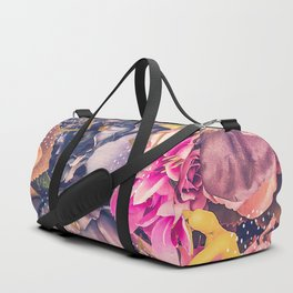 Collage flowers - geometrics Duffle Bag