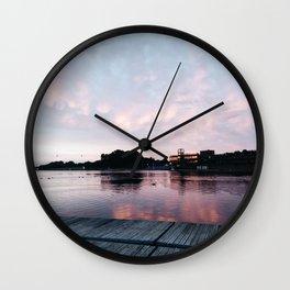 Epic dusk in Nottingham Wall Clock