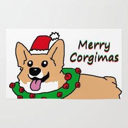 Merry Corgimas Rug