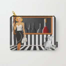 Series: Woman Quartet, No.3 in black and white Carry-All Pouch