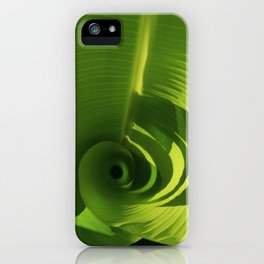 Banana Leaf Swirl iPhone Case