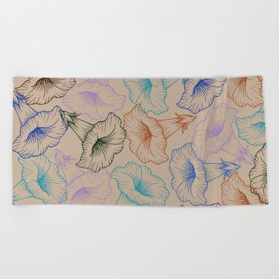 floral pattern 1 Beach Towel