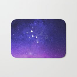 Cassiopeia Constellation with the Milky Way Bath Mat