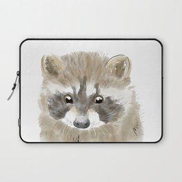 Watercolor Baby Racoon Laptop Sleeve