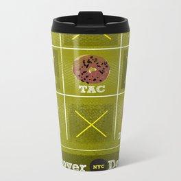 Tic, Tac, Dough Metal Travel Mug