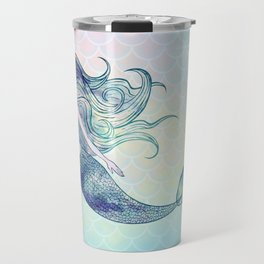 Watercolor Mermaid Travel Mug