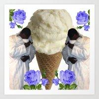 gucci Art Prints featuring Gucci Daddy  by Gabbi GOON