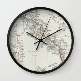 Vintage Map of Italy (1893) Wall Clock