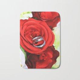 Flowers of love Bath Mat