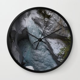 Frozen Waterfalls of Maligne Canyon Wall Clock
