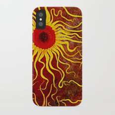 Psychedelic Susan 003, Sunflowers Slim Case iPhone X