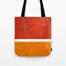 Burnt Orange Yellow Ochre Mid Century Modern Abstract Minimalist Rothko Color Field Squares Tote Bag