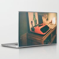 typewriter Laptop & iPad Skins featuring Typewriter by Cheryl Cha-Cyn