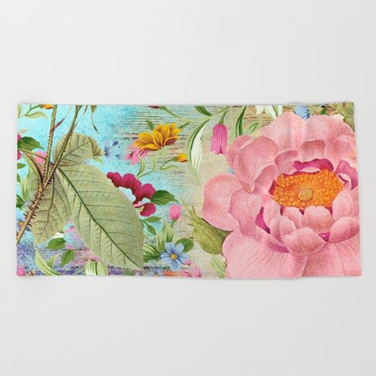 Vintage Flowers #18 Beach Towel