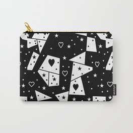 Black and White Popart by Nico Bielow Carry-All Pouch