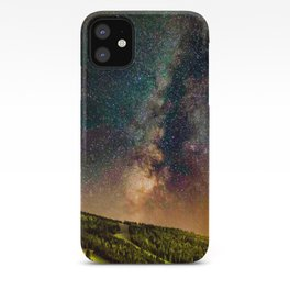 Copper Mountain Galaxy // Incredible Photograph of the Milky Way Stars and Cosmic Dust iPhone Case