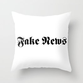 Fake News Throw Pillow