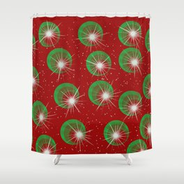 Sparkly Christmas Balls Shower Curtain