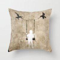 led zeppelin Throw Pillows featuring led by Seamless