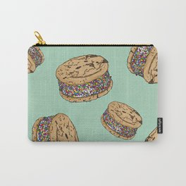 THERE'S ALWAYS TIME FOR AN ICE CREAM SANDWICH WITH CHOCOLATE CHIPS AND FUNFETTIS! - MINT Carry-All Pouch