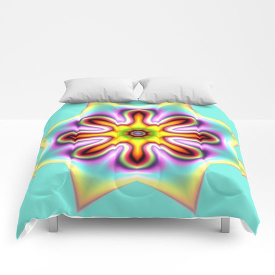Decorative colourful silky star Comforters