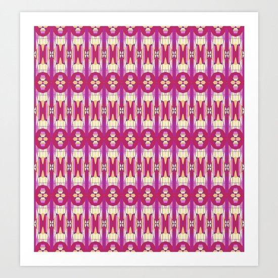 Purple Tiles 2 Art Print