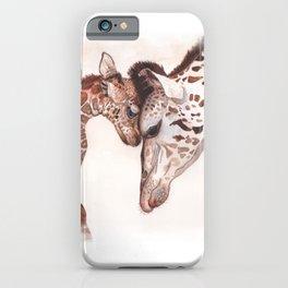 Mom & Baby Giraffe iPhone Case