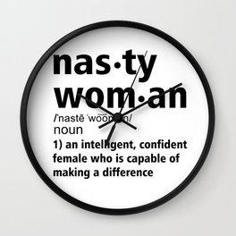 Nasty Woman definition Wall Clock