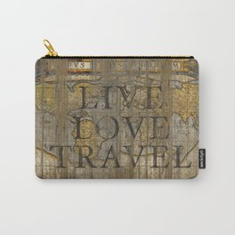 Live Love Travel Carry-All Pouch