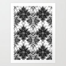 Knives Pattern Art Print