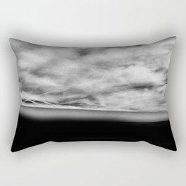 Florida Beach Black Rectangular Pillow