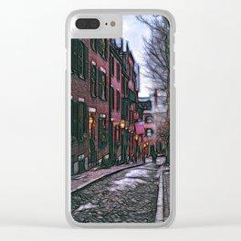 Acorn Street, Boston, USA Clear iPhone Case