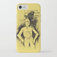 c3po iPhone & iPod Cases featuring C3PO by Samantha Chiusolo
