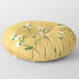 Yellow summer | Flower Photography Floor Pillow