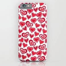 MESSY HEARTS: RED Slim Case iPhone 6s