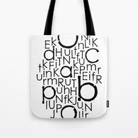 typo Tote Bags featuring typo by Catherine_S