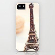 Macaron and Mini Eiffel Tower Slim Case iPhone (5, 5s)