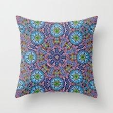 BBQSHOES: Kaleido-Fractal 1790 Throw Pillow