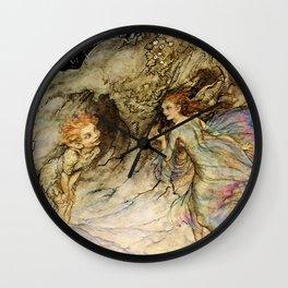 """Puck and a Fairy"" by Arthur Rackham Wall Clock"