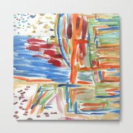 Abstract Acrylics 1 Metal Print