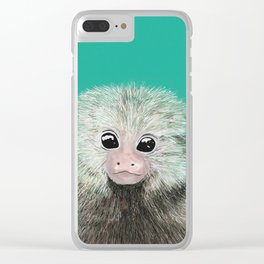 Lily likes ouistitis Clear iPhone Case