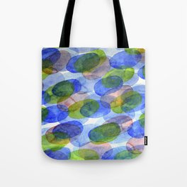 Green Blue Red Ovals Tote Bag