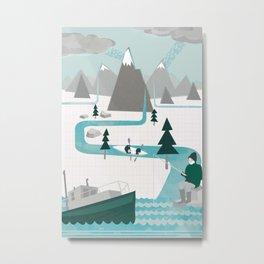I like water Metal Print