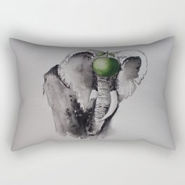 The elephant and the apple Rectangular Pillow