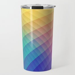Spectrum Bomb! Fruity Fresh (HDR Rainbow Colorful Experimental Pattern) Travel Mug