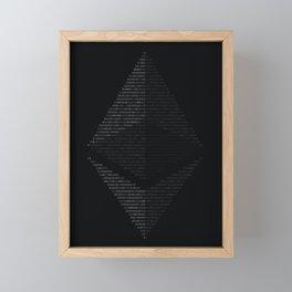 Ethereum Binary Framed Mini Art Print
