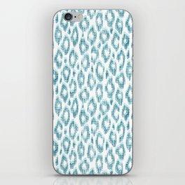 "Turquoise leopard pattern ""Leopold"" iPhone Skin"
