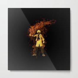 Pirate King Fire Fist Metal Print
