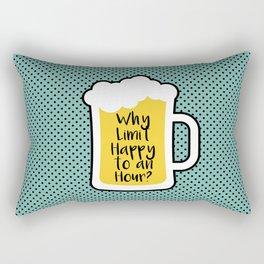 Beer Happy Hour Rectangular Pillow