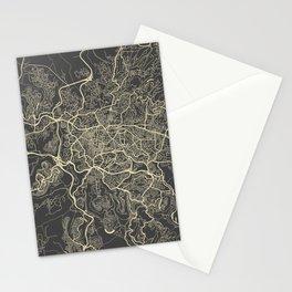 Jerusalem Map Stationery Cards